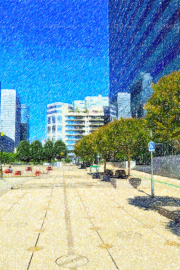 022V_Fotoladefense_110434_4-Format_4-3_V-4500-6000_Esplanade_Nord-color-pencil-colorful