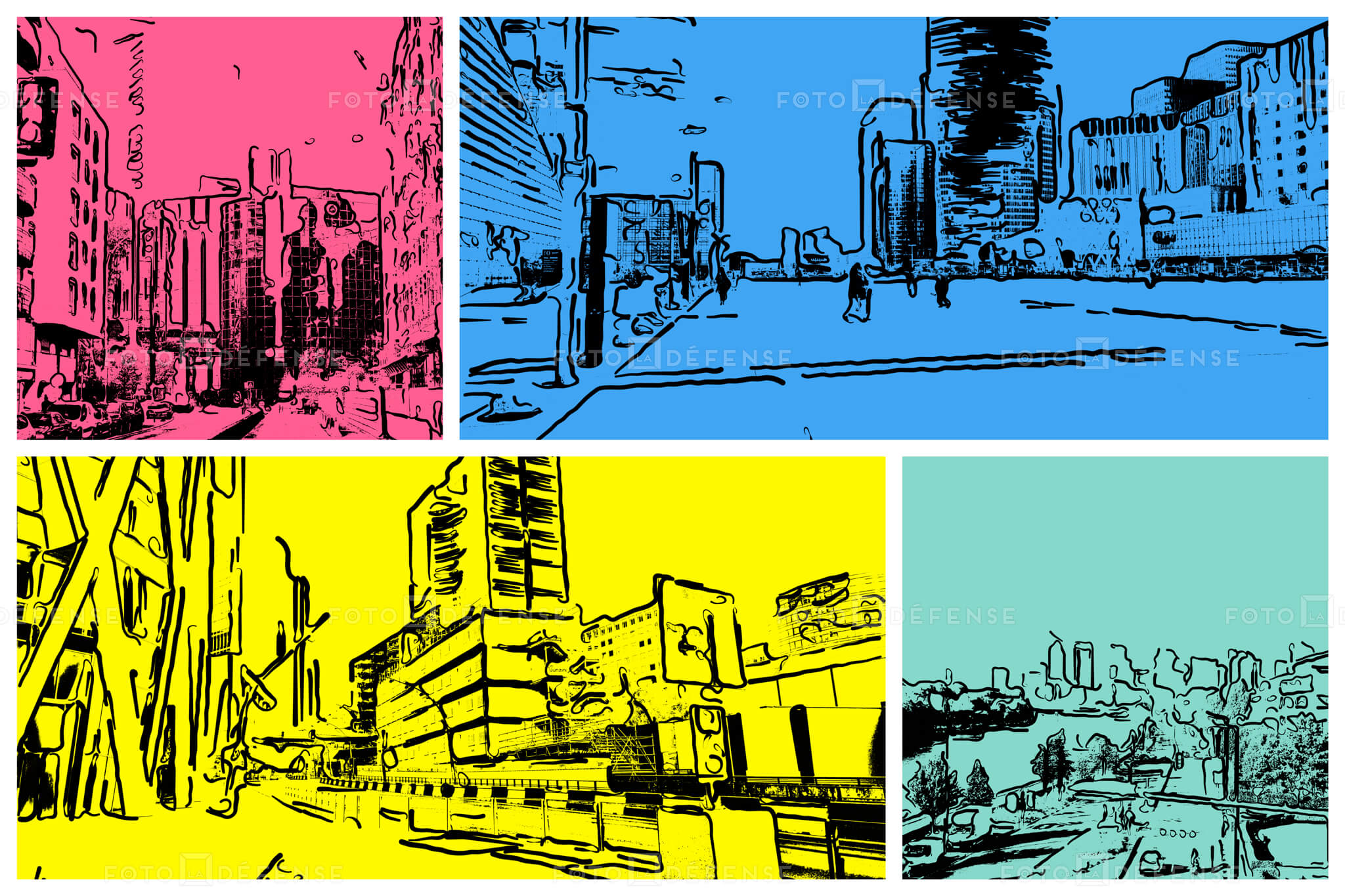 Photo Paris la Defense pop art