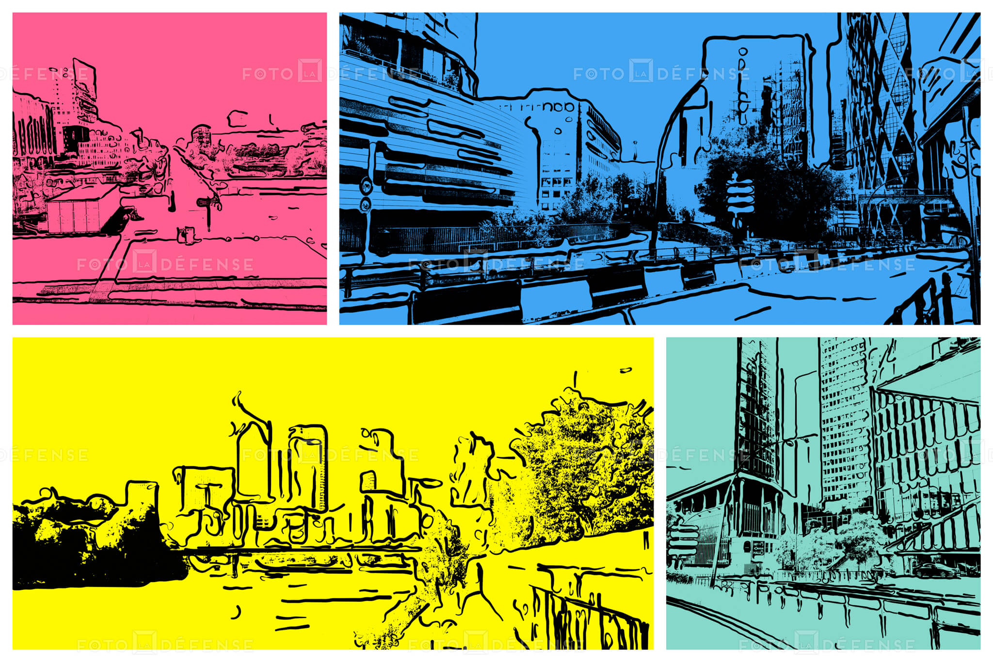 Photo pop art Paris la Defense