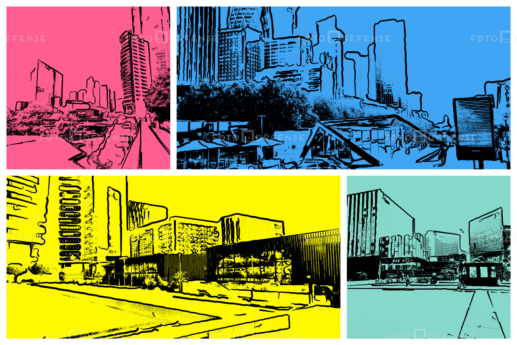 Paris La Défense pop art